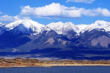 colorado rocky mountains: First Mountain Snow in Colorado, United States. Rocky Mountains. Stock Photo