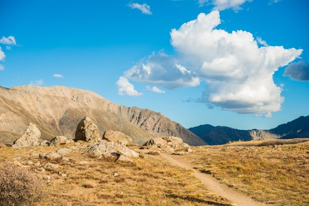 rocky mountains colorado: Independence Pass Scenery in Colorado, USA. Rocky Mountains. Stock Photo