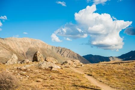 colorado rocky mountains: Independence Pass Scenery in Colorado, USA. Rocky Mountains. Stock Photo