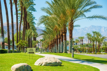 wells: Indian Wells City Streets in California, United States Stock Photo