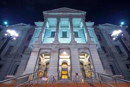 colfax: Denver Colorado Capitol Building at Night. Colorado State Capitol Located at 200 East Colfax Avenue in Denver, Colorado.