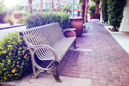 quinta: California Bench. La Quinta, Coachella Valley Old Town Bench.