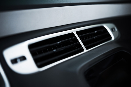 vent: Car Air Condition Vent Closeup. Modern Vehicle Interior and Features.