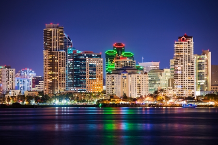 San Diego Bay City Of Summer Skyline Panorama California