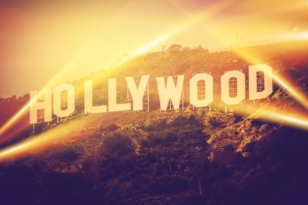premios: Hollywood California EE.UU.. Mundial de Hollywood famoso signo concepto. Editorial