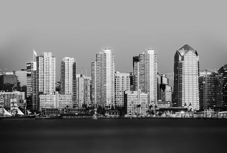 diego: San Diego in Black and White. San Diego, California, USA. Stock Photo