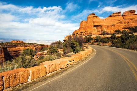 colorado landscape: Western Colorado Landscape. Colorado Monument Road Trip. Grand Junction, Colorado, United States.