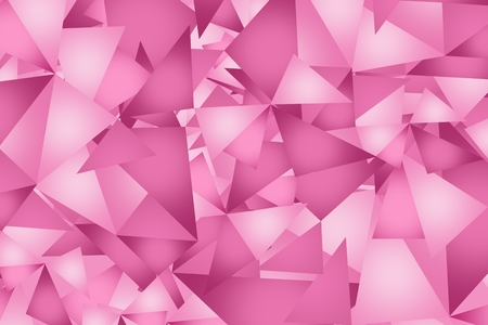 Pink Triangles Pattern. Pinky Triangles Abstract Illustration.
