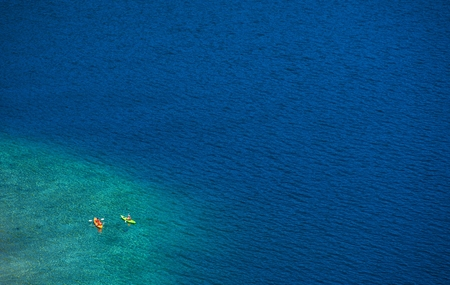 fannette: Lake Kayaking. Lake Tahoe Kayaking. California, United States.