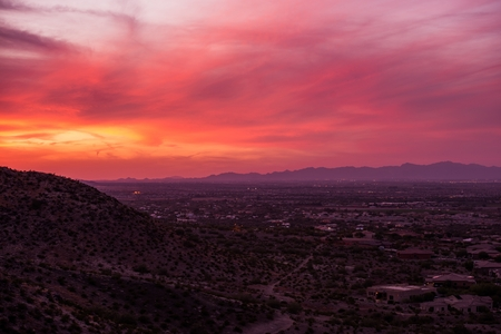 arizona sunset: Arizona Sunset Scenery. Phoenix Arizona, United States. Stock Photo