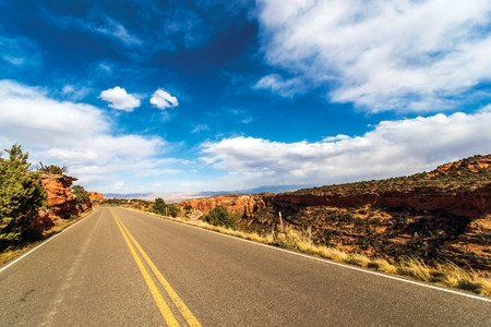 western united states: Western Colorado Summer Trip. Colorado National Monument Road. United States. Stock Photo