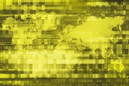 passcode: Green Digital Global Background Concept Illustration. Global Business Background Concept.