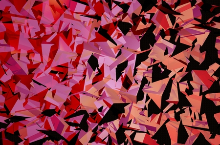 Geometric Triangles Backdrop Illustration.Pinky Triangles Art Background. Фото со стока