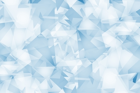 Light Blue Triangles Background. Abstract Blue Geometric Background.