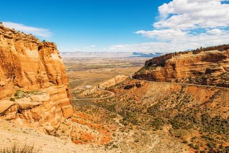 colorado landscape: West Colorado Landscape. Grand Junction, Colorado, United States. Navajo Sandstone Formation in Colorado National Monument.