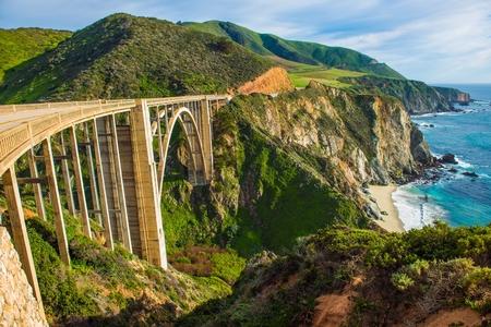 big sur: Bixby Creek Bridge in Big Sur, California, United States. Scenic California Highway  Stock Photo