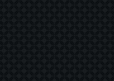 Black Vintage Pattern . Elegant Dark Pattern Backdrop. 免版税图像