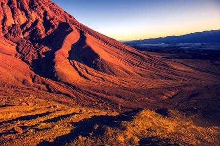 death valley: Death Valley Vista. California, United States. Sunset in Death Valley National Park.