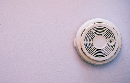 Residential Smoke Detector Wall Mounted Device. Fire Protection.