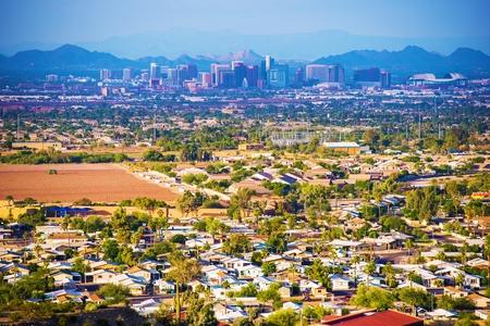 ave fenix: Ciudad de Phoenix Panorama. Phoenix, Arizona, Estados Unidos. Foto de archivo
