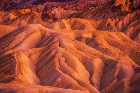 Geology of Death Valley National Park in California, United States. Death Valley Formations. Stock Photo