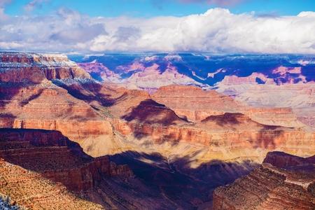 colorado landscape: Grand Canyon Vista. Scenic Winter Grand Canyon of Colorado Landscape. Arizona, United States.