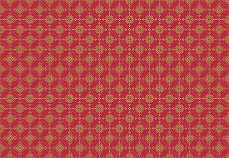 Medieval Royal Pattern . Burgundy with Golden Ornaments Pattern