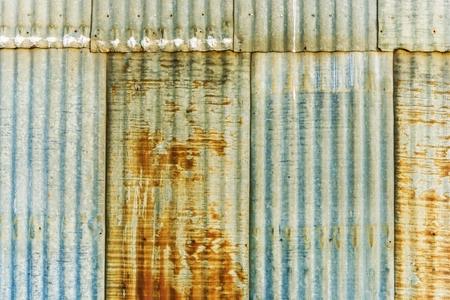 corrugated metal: Aged Rusty Corrugated Metal Panels Photo . Stock Photo