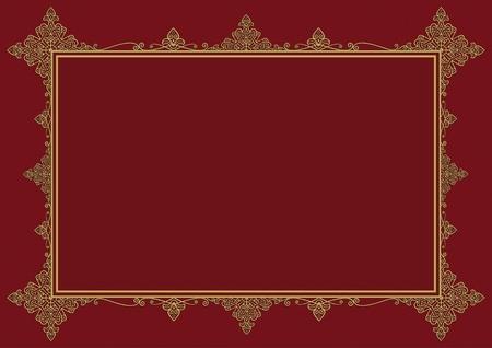 burgundy background: Burgundy Vintage Frame Background. Medieval Frame Backdrop.