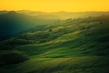 eureka: Northern California Landscape. Scenic Vista East From Eureka, Humboldt County, California, United States. Stock Photo