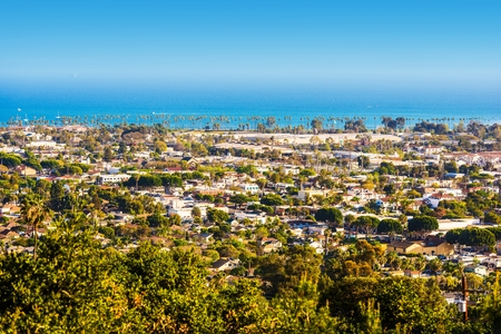 santa barbara: Santa Barbara California Panorama. Cityscape Photo. Stock Photo