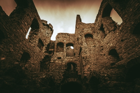 Castle Ruins in Ogrodzieniec, Poland, Europe. Medieval Castle.