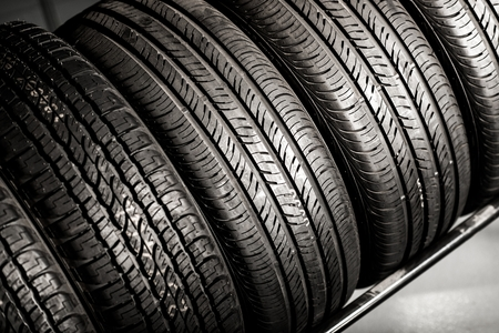 New Compact Vehicles Tires Stack. Winter and Summer Season Tires. Фото со стока - 41103451