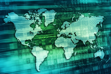 digital world: Digital World Background Concept Illustration.