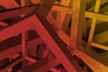 Abstract Reddish Orange Geometric Backdrop. Abstract 3D Shapes Background.