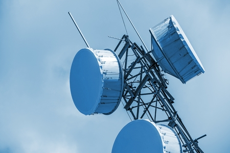 antenna: Cellular Antenna Closeup. Cellular Tower. Stock Photo