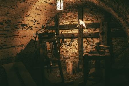 torture: Torture Chamber in Niedzica Castle Located in Lesser, Poland
