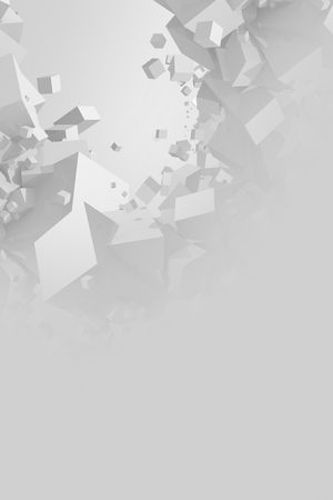 Abstract Gray Cubes Background