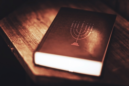 Menorah Symbol on the Book Cover