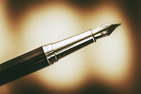 The Fountain Pen in Browny Sepia Color Grading. Handwriting Theme.
