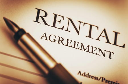 trust: Rental Agreement and Fountain Pen Stock Photo
