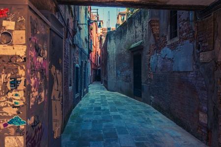 italy street: Venice Italy Street. Venetian Architecture. Narrow Venice Street.
