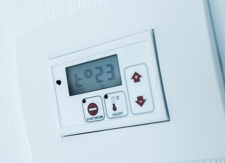 Automatic Climate Control in a Room. Climate Control Wall Console.