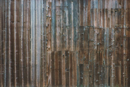 Aged Barn Wooden Wall Background. Aged Planks Wall Photo Backdrop. Standard-Bild