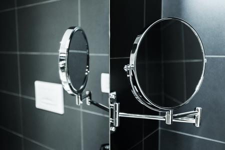 bathroom mirror: Elegant Stylish Magnifying Mirror Mirroring in Traditional Bath Mirror. Bathroom Accessories.