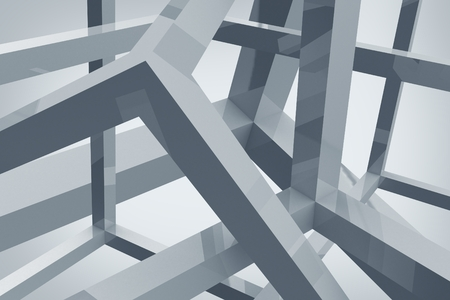 Abstract Form Background. 3D Abstract Illustration Backdrop.