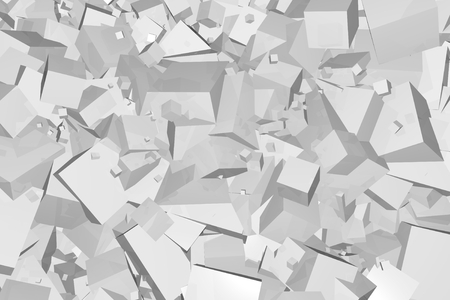 Abstract Cubes Pattern Background Illustration, Silver Tubes Backdrop. Фото со стока