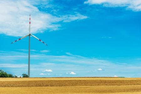 source: Countryside Wind Turbine. Northern Austria, Europe. Renewable Energy Source.
