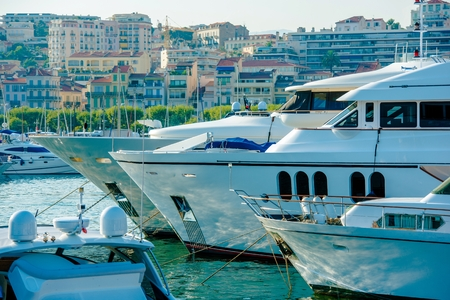 Cannes, France Marina Boats and Yachts. Luxury Yachts.
