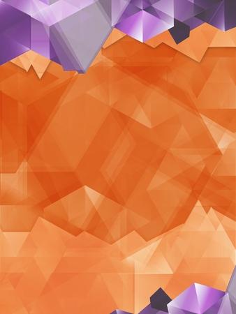 Abstract Geometric Orange and Purple Background. Vertical Design. Zdjęcie Seryjne